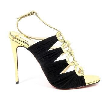 Multicolor 37 EUR - 7 US Christian Louboutin Womens Sandal TINA CAGE 100