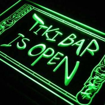 Tiki Bar Open Decor Neon Sign (LED)