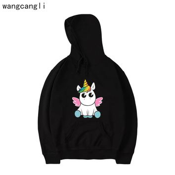 Unicorn Hoodies - Women's Novelty Pullover Hooded Sweatshirts