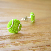 Sporty Girl Earrings... Tennis Balls