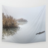 """Last minute"". Dream lake Wall Tapestry by Guido Montañés"