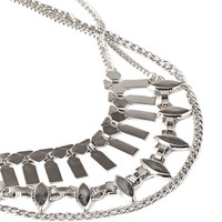 FOREVER 21 Mixed Chain Necklace Set Silver One