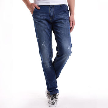 Plus Size Men Casual Jeans [6528726979]
