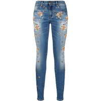 Roberto Cavalli Sequin Embroidered Jeans | Harrods.com