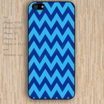 iPhone 6 case sky blue chevron iphone case,ipod case,samsung galaxy case available plastic rubber case waterproof B202