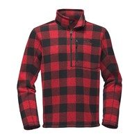 Men's Novelty Gordon Lyons 1/4 Zip in Cardinal Red Grizzly Print by The North Face - FINAL SALE