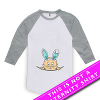 Easter Pregnancy Shirt Pregnancy Announcement Pregnancy Reveal Peek A Boo Baby Boy Expectant Mother American Apparel Unisex Raglan MAT-480