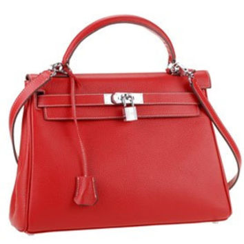 Hermes Kelly Small Red Bag