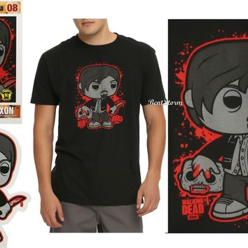 Licensed cool Funko POP! Tees The Walking Dead Daryl Dixon #08 T-Shirt Mini Standee Hot Topic
