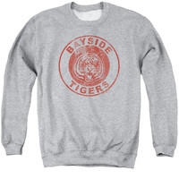SAVED BY THE BELL/TIGERS - ADULT CREWNECK SWEATSHIRT - ATHLETIC HEATHER -