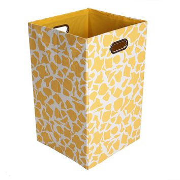 Modern Littles Rusty Giraffe Folding Laundry Bin (Orange)