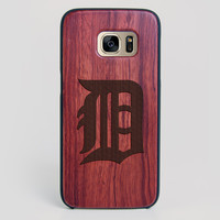 Detroit Tigers Galaxy S7 Edge Case - All Wood Everything