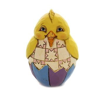Jim Shore MINI EASTER EGGS Polyresin Hand Painted 6003620 Chick
