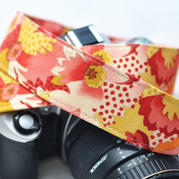 Camera Strap - Autumn Watercolor Floral