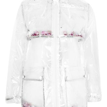 Transparent Glitter Mac Raincoat