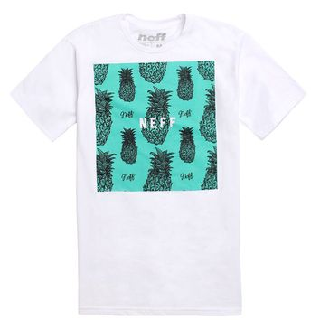 Neff Pineapple Square Fill T-Shirt - Mens Tee - White