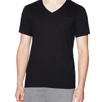 Bread and Boxers Men's Jersey V Neck Tee - Black -