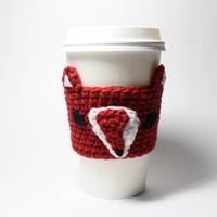 Fox coffee cozy, animal cozy, Crochet cup sleeve