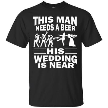 Funny Bachelor Party Groom Mens Beer Wedding Near TShirts