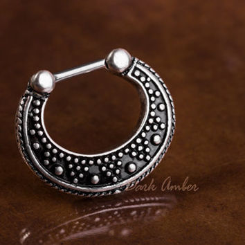 Vintage Look Septum Clicker 16GA