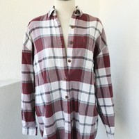 VINTAGE OVERSIZE MOOSE FLANNEL- RED