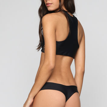 Tucker Bikini Bottom in Onyx