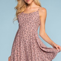Teagan Floral Dress - Mauve