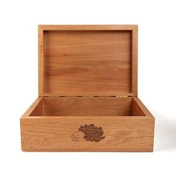 Desert Garden Laser Cut Wood Keepsake Box