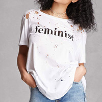 Feminist Graphic Distressed Tee