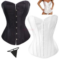 2014 New Elastic New Sexy Lace Up Women Corset Top Bustier Faux Leather Corsets Body Shaper SV002734 = 1745331524