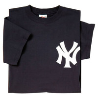 New York Yankees (YOUTH SMALL) 100% Cotton Crewneck MLB Officially Licensed Majestic Major League Baseball Replica T-Shirt Jersey
