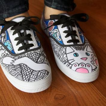 Handdrawn Classic Vans Authentic Lo Pro Shoes by BakedLaces