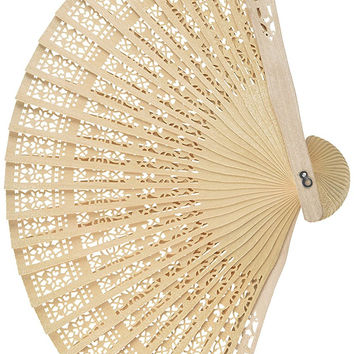 [13060] 12 pcs Chinese Scented Wooden Openwork Fan