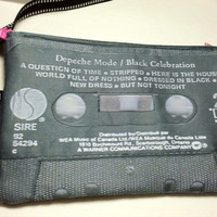Depeche Mode Black Celebration Black Cassette Tape Shoulder Bag Convertible Retro 80s Music