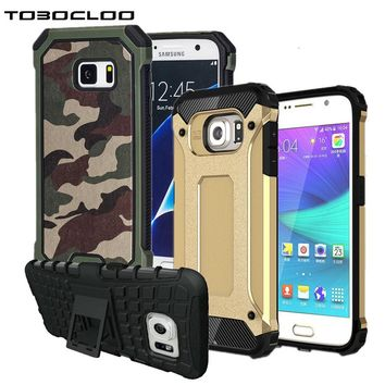 Kickstand Armor Slim Hard Rugged Rubber Case Cover For Samsung Galaxy S5 S6 S7 edge S8 PLUS A3 A5 2016 2017 J5 J7 J2 PRIME