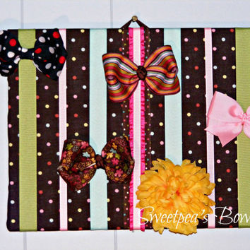 Medium Girls Hair Bow Holder Organizer Board by sweetpeasbowco