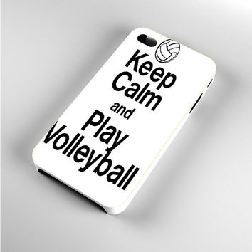 Keep Calm Play On Volleyball iPhone 4s Case