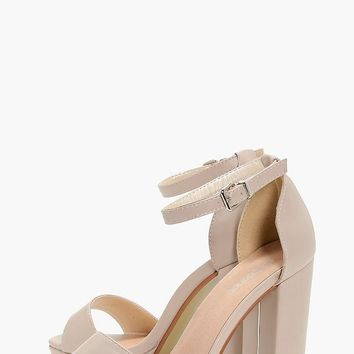 Laurie Wide Fit Platform Block Heel | Boohoo