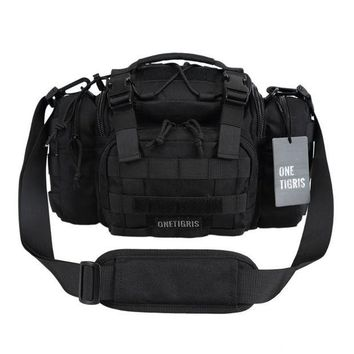 ONETOW OneTigris Tactical MOLLE Hunting Waist Bag Pack For Men 3 Ways Modular Deployment Utility Bag Heavy Duty with Shoulder Strap