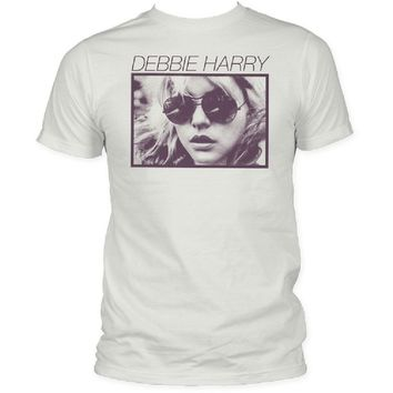 Debbie Harry Men's White T-shirt - Debbie Harry In Aviator Sunglasses Photograph | Vintage Shirt