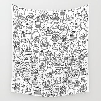Succulents & Cactus Wall Tapestry by Inspire Your Art