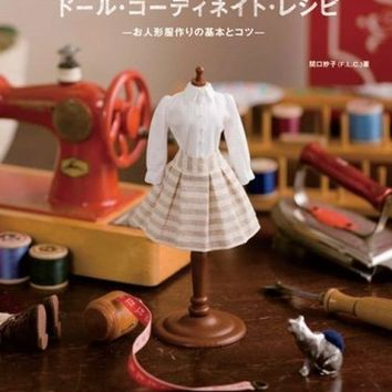 My First Doll Coordinate Recipe - Japanese Sewing Pattern Book for Dolls - Dolly Dolly Books - Taeko Sekiguchi - B29
