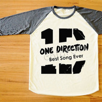 One Direction T-Shirt Best Song Ever T-Shirt 1D T-Shirt Music T-Shirt Long Sleeve Tee Shirt Women T-Shirt Men T-Shirt Baseball T-Shirt S,M,L