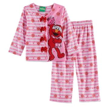 Toddler Girl Sesame Street 2-pc. Elmo Top & Pants Pajama Set | null