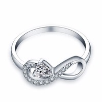 Women's Sterling Silver Infinity Ring