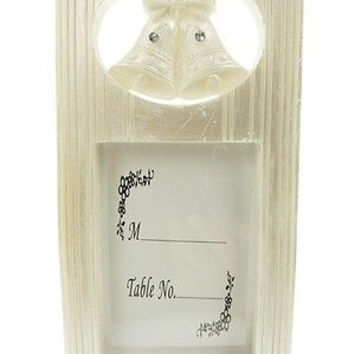 Wedding Bridal Shower Anniversary Party Favor Souvenir Keepsake Picture Frame, Double Bells Tall