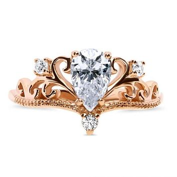 Best Rose Gold Crown Ring Products on Wanelo 94e8d59a7