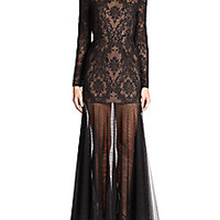 BCBGMAXAZRIA - Tatiana Baroque Embroidered Gown - Saks Fifth Avenue Mobile