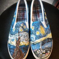 Custom Shoes ,The Starry Night by Vincent Van Gogh