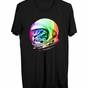 Astronaut Space Cat Men T Shirts